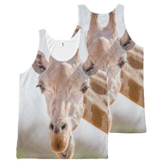 Blickkontakt mit Giraffe Komplett Bedrucktes Tanktop