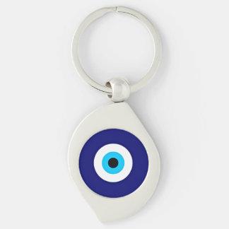 Blicks-Charme Silberfarbener Wirbel Schlüsselanhänger