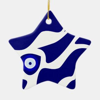 Blicks-Lava-Muster Keramik Stern-Ornament