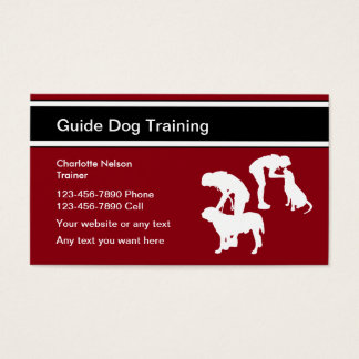 Blindenhund-Trainer Visitenkarte