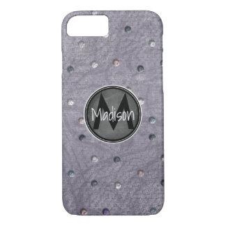 Bling auf Grau mit Tafel-Rahmen iPhone 8/7 Hülle