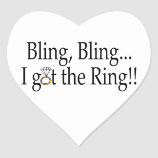 Bling Bling erhielt ich die Herz-Aufkleber