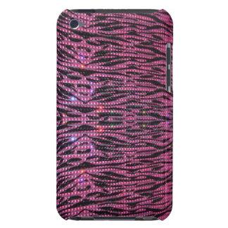 BLING Girly rosa u. schwarzer Zebra-grafischer iPod Touch Hülle