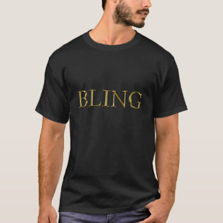 Bling im Gold T-Shirt