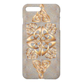 Bling keltischer Knoten auf Grau iPhone 8 Plus/7 Plus Hülle