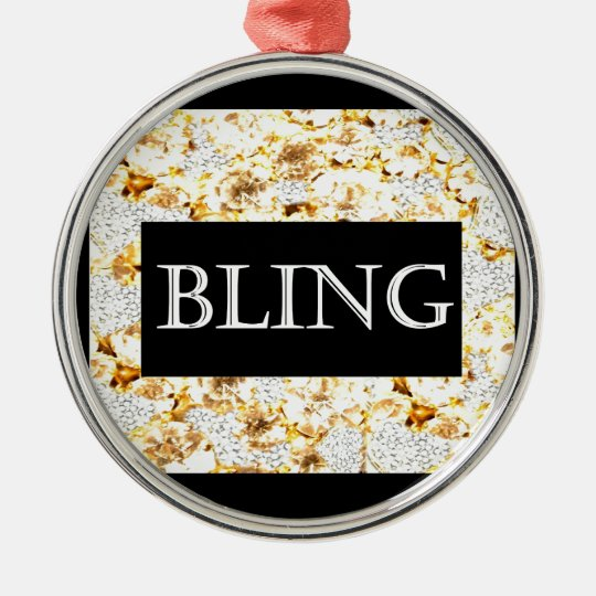 BLING RUNDES SILBERFARBENES ORNAMENT