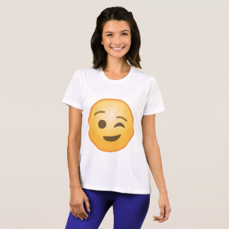 Blinzeln von Emoji T-Shirt