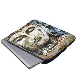 #bliss Zen-Buddha-Kunst-Laptop-Hülse Laptopschutzhülle