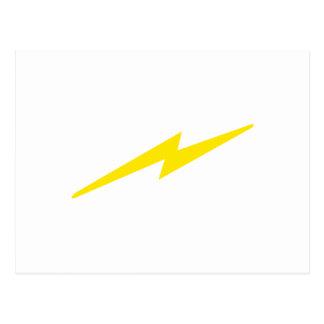 Blitz-Bolzen Postkarte