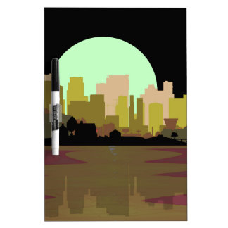Blitzschlag-Stadt Memoboards