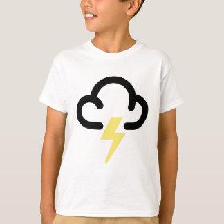 Blitzsturm: Retro Wettervorhersagesymbol T-Shirt
