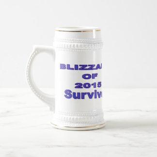 Blizzard-Überlebender 2015 Stein Bierglas