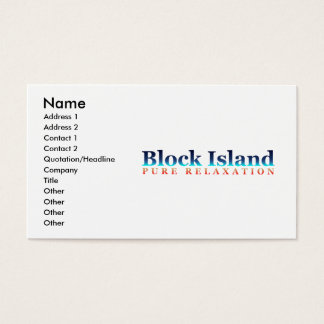 Block-Insel: Reines Entspannung Visitenkarten