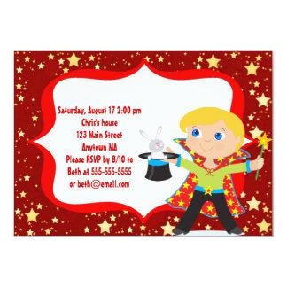 Blonde Jungen-Magier-Geburtstags-Party Einladung