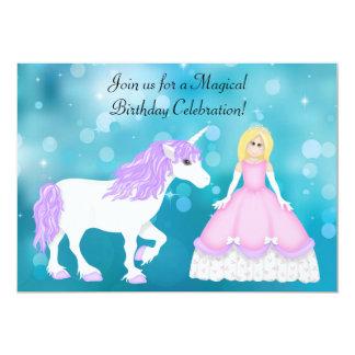 Blonde Prinzessin-und Individuelle Ankündigskarten
