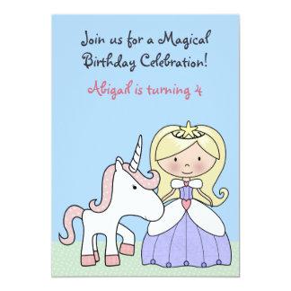 Blonde Prinzessin-und 12,7 X 17,8 Cm Einladungskarte