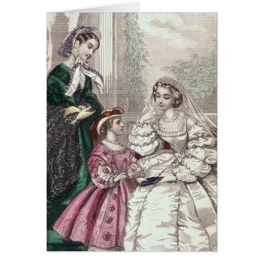 Blonde viktorianische Braut-Karte für Hochzeiten, Grußkarte