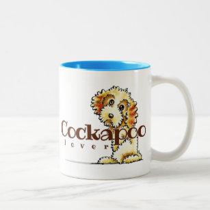 Blonder Cockapoo Liebhaber Zweifarbige Tasse