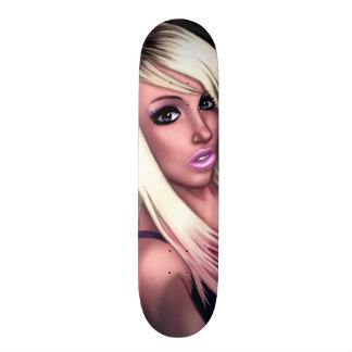 Blondes Skater-Mädchen 18,7 Cm Mini Skateboard Deck