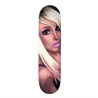 Blondes Skater-Mädchen Skateboardbretter