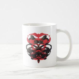 Bloodblot Tintenkleks-Kunst Kaffeetasse
