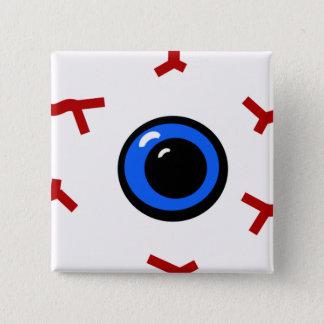 Bloodshot Augapfel (Quadrat) Quadratischer Button 5,1 Cm
