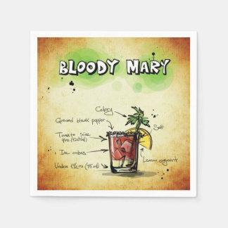 Bloody- MaryBarkeeper-Getränk-Rezept Papierserviette