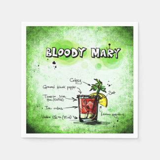 Bloody- MaryBarkeeper-Getränk-Rezept Serviette