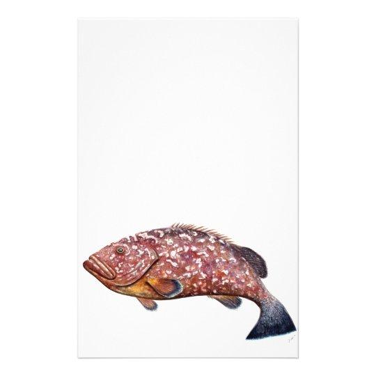 Bloß, Fisch, chernia garopa, Briefpapier