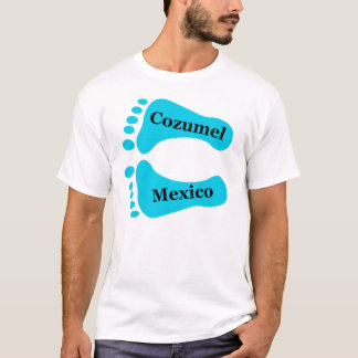 Bloße Füße Cozumel Mexiko T-Shirt