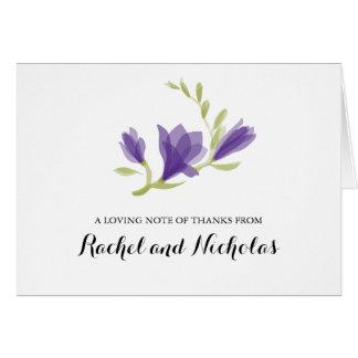 Bloße Sommer-Blumen | danken Ihnen Karte