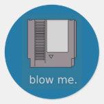 blow_me runder aufkleber