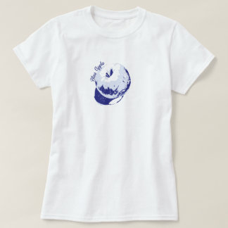 Blue Apple fun colour design T-Shirt