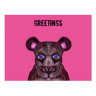 Blue eyed black Jaguar Postkarte