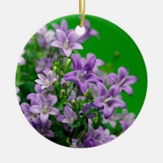 blue flower rundes keramik ornament