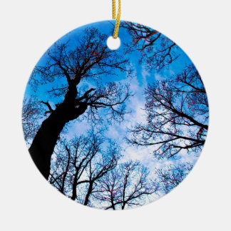 BLUE POWER OF TREE KERAMIK ORNAMENT