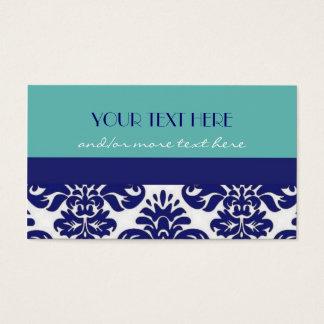 Blue&White Damast Visitenkarte