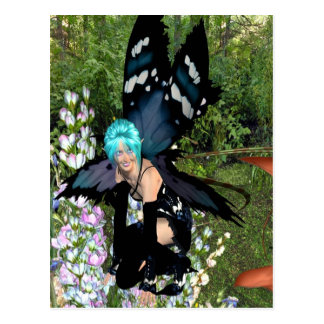 Bluebell-Blumen-Elf 18x15 Postkarte