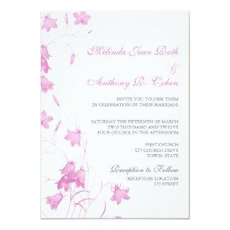 Bluebells - violettes 12x18, das Einladung Wedding