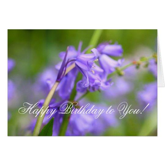 Bluebellsschönheit Grußkarte