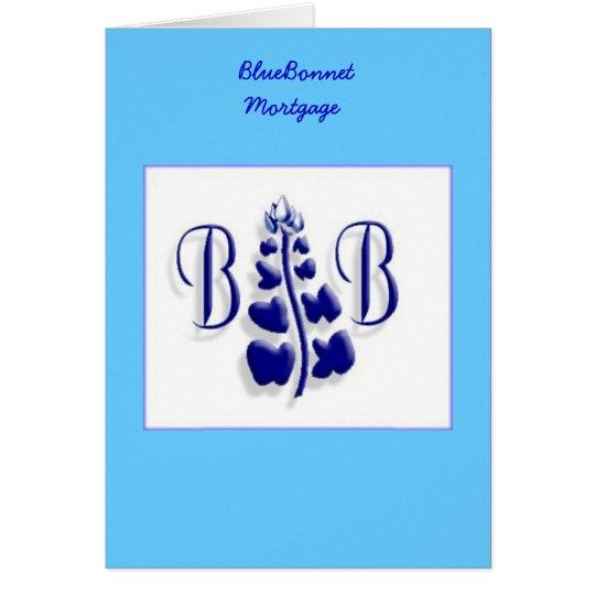 BlueBonnet-Logo Grußkarte