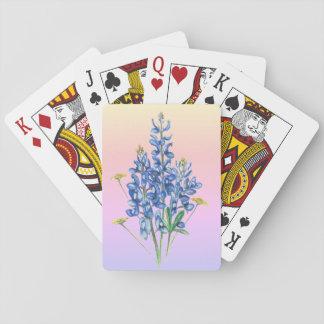 Bluebonnets auf rosa Hintergrund Spielkarten