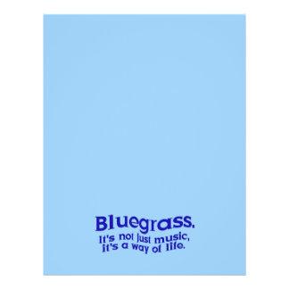 Bluegrass: Nicht gerade Musik, eine Lebensart Bedruckte Flyer