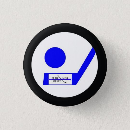 Blueliner Hockey-Retro Abzeichen Runder Button 3,2 Cm