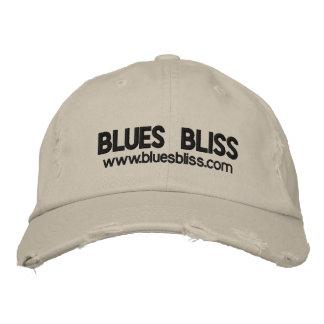 Blues-Bliss beunruhigte Kappe Besticktes Baseballcap