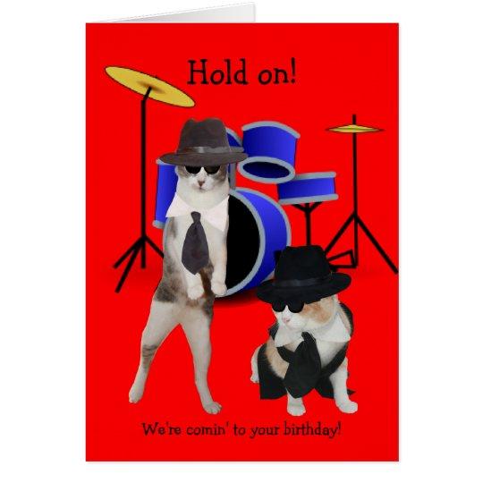 Blues-Bruder-Katzen Grußkarte