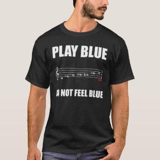 Blues-Skala-Anmerkung T-Shirt