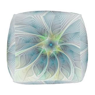 Blühen Sie Fantasie-moderne blaues Hocker