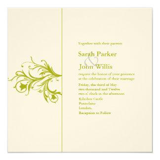 Blühen Sie Hochzeit einladen Quadratische 13,3 Cm Einladungskarte