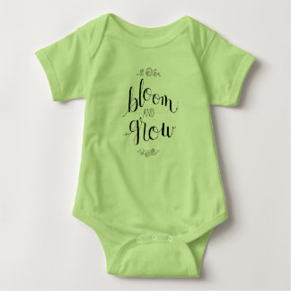Blühen Sie u. wachsen Sie Säuglings-Bodysuit Baby Strampler